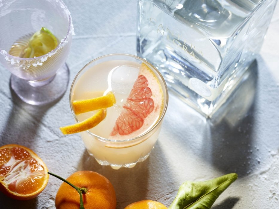 A group of tequila grapefruit based cocktails - drink tequila photography