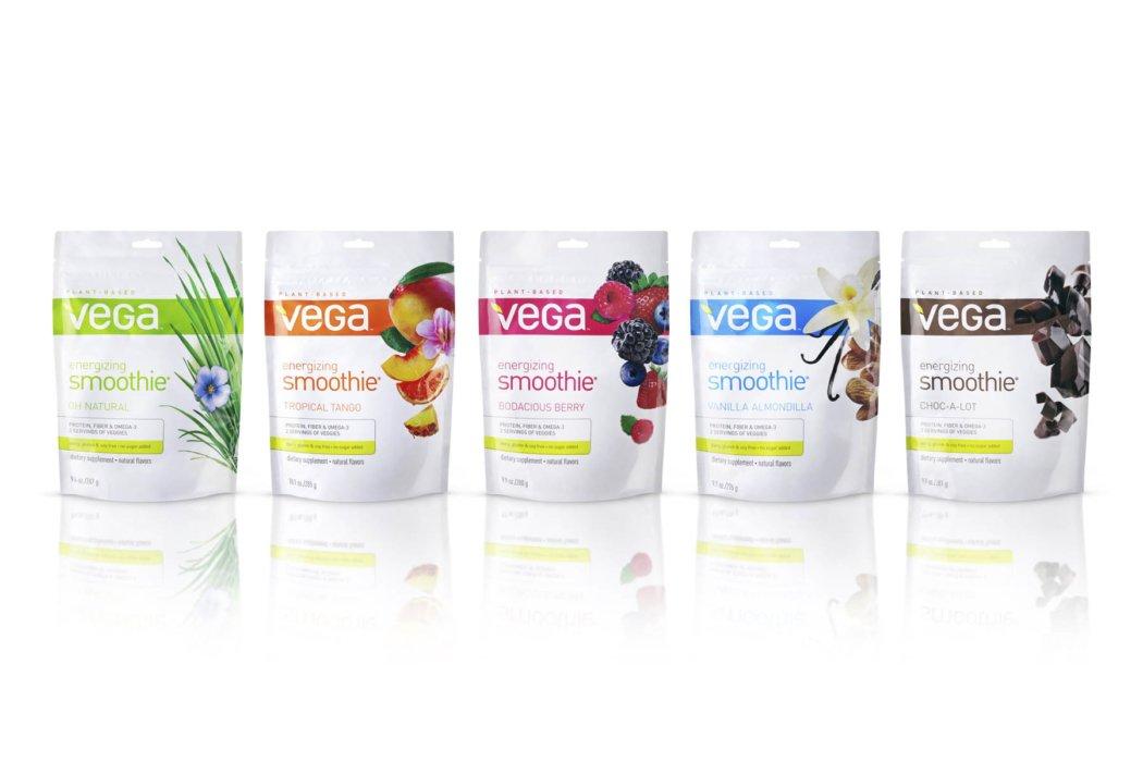 vega packaging on white background