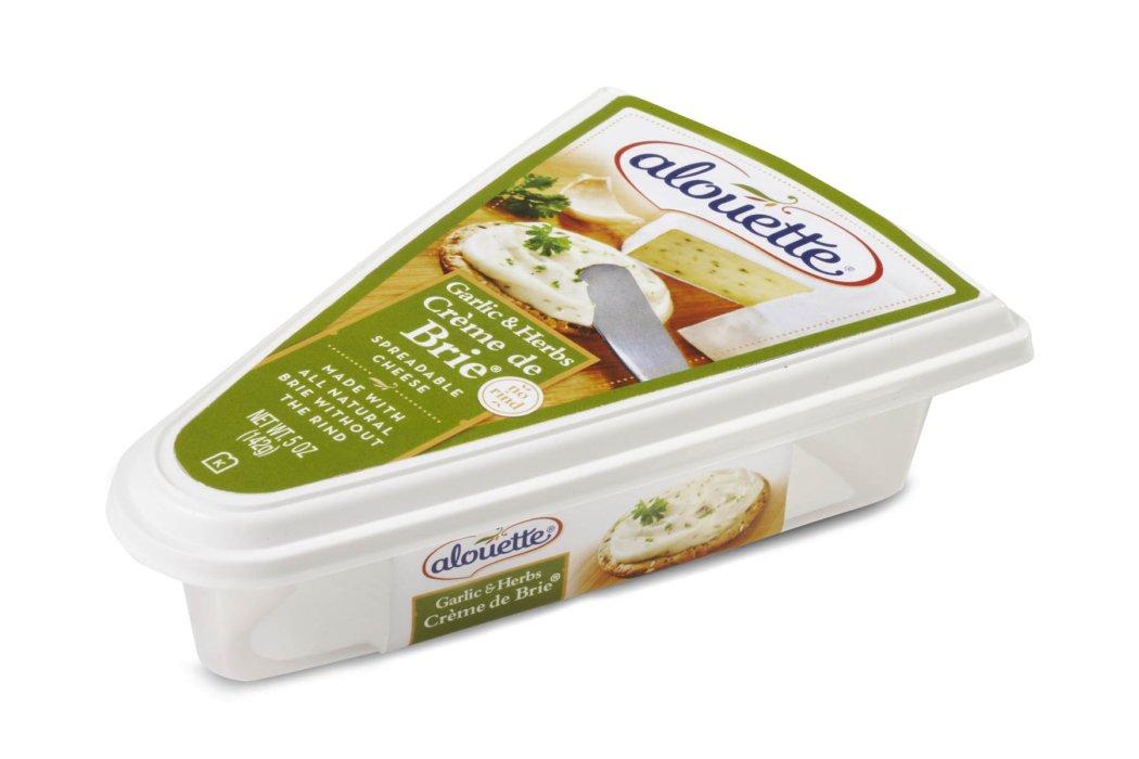 Green alouette brie cheese box