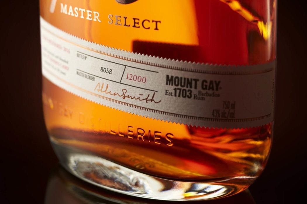 Close up of high quality liquor bottle