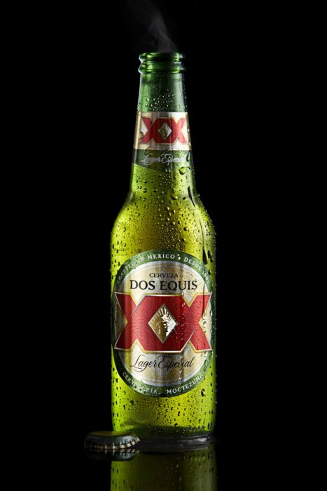 cold Dos Equis XX bottle