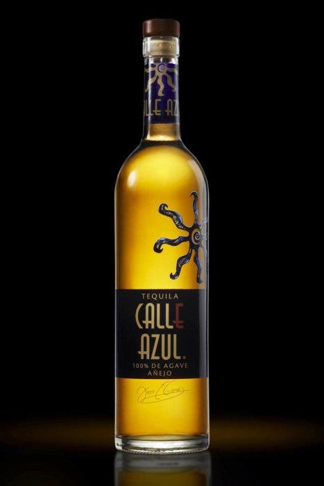 Calle Azul glowing bottle