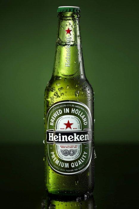 Cold Heineken beer