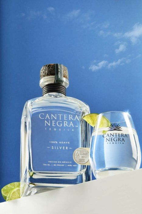 Silver tequila drink photography