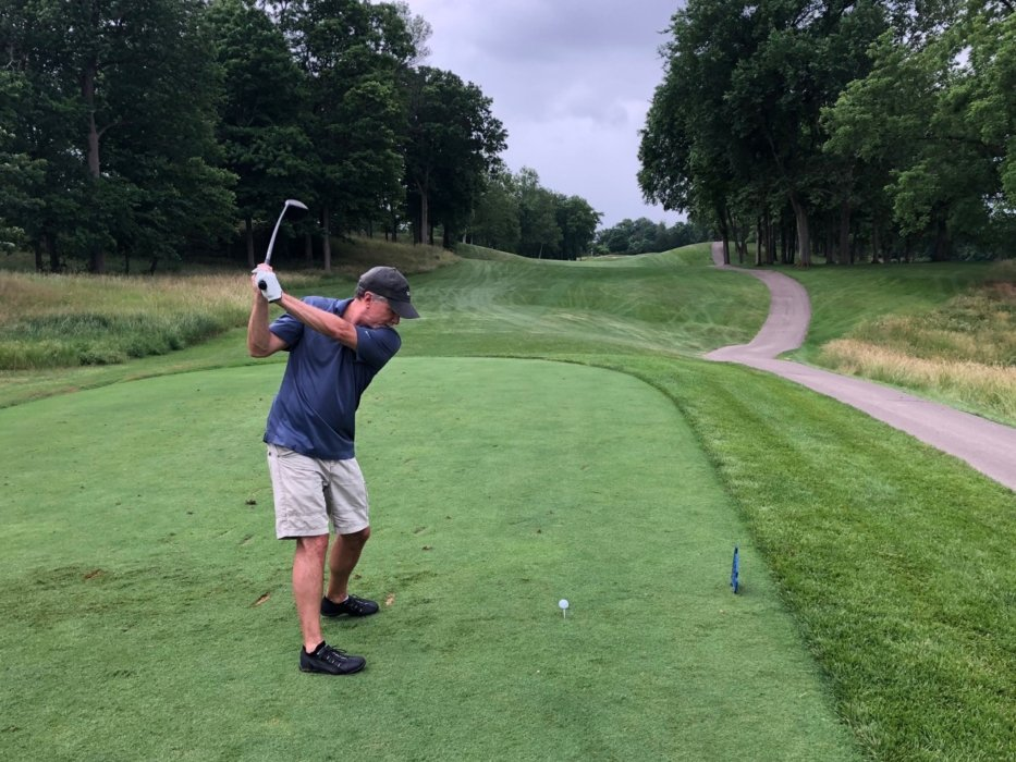 Tj Vissing Golfing at Charity event