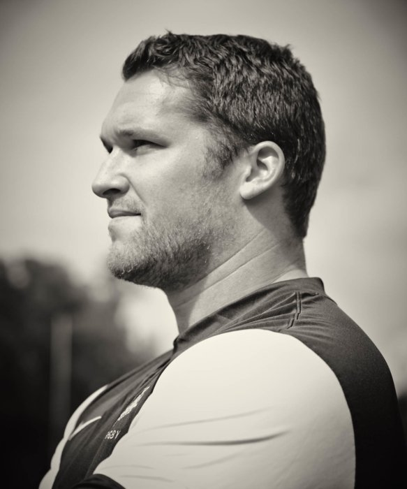 Portrait of a young athlete on a rugby team