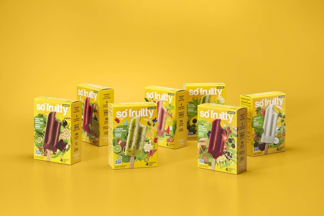 Packaging photography - so fruity popsicles variety