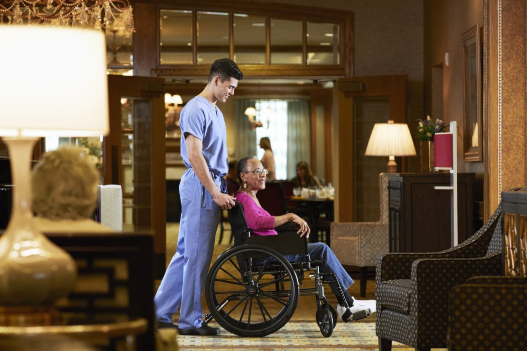 A ground of people in an assisted living health care facility   Healthcare Photographer