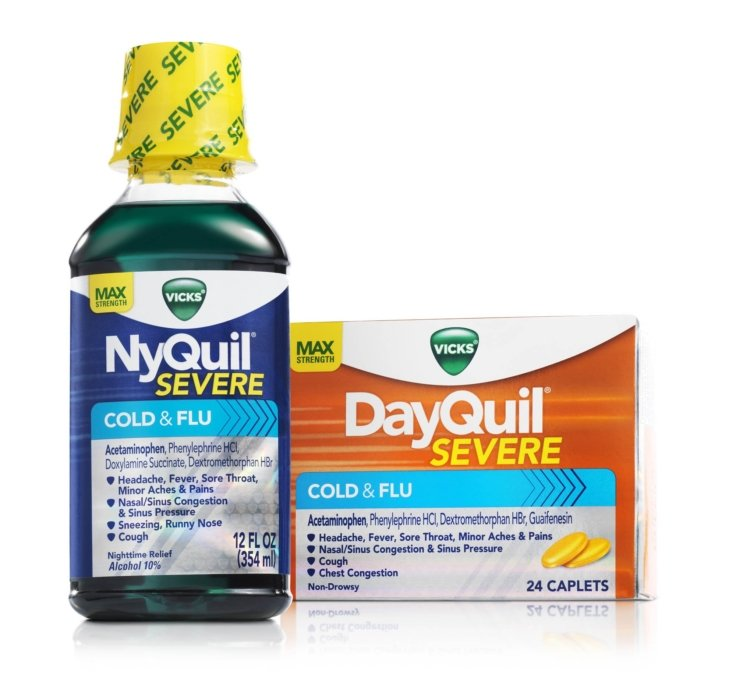 A product image of NyQuil and DayQuil   Healthcare Photographer