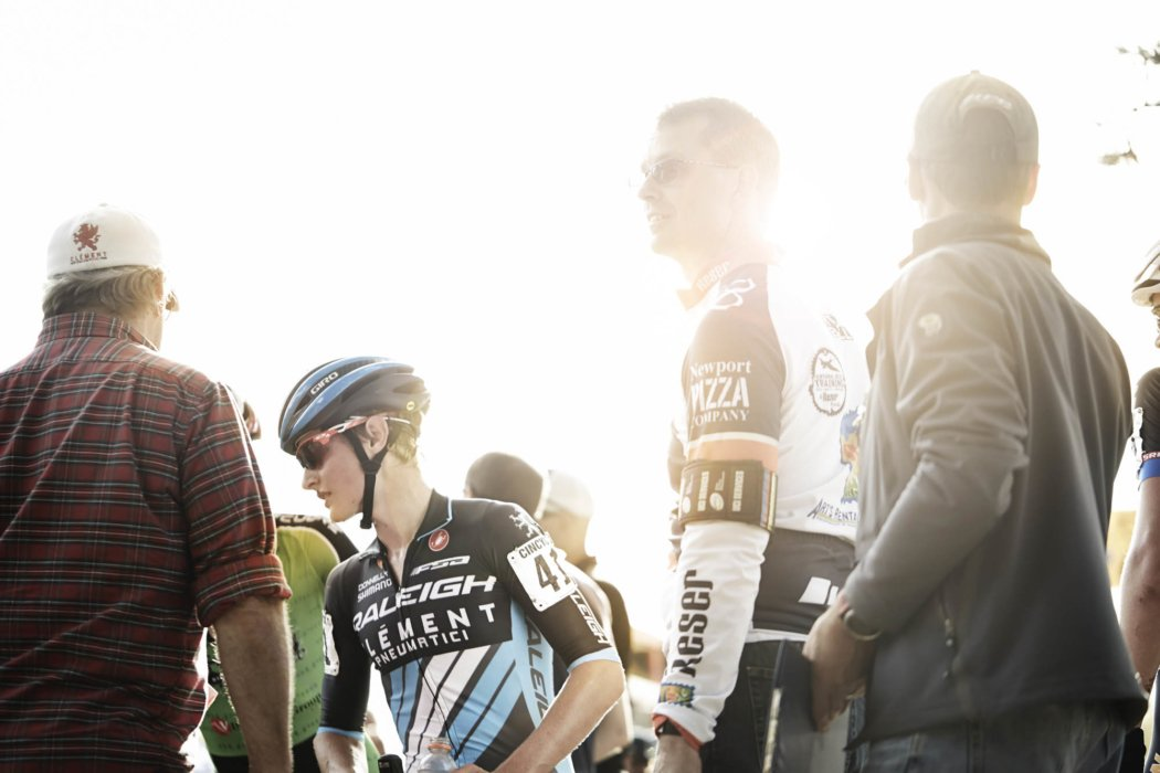 Cyclocross riders before a big race