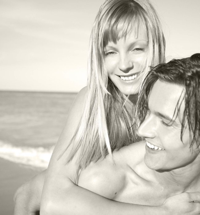 A beauty shot of a young couple at a beach