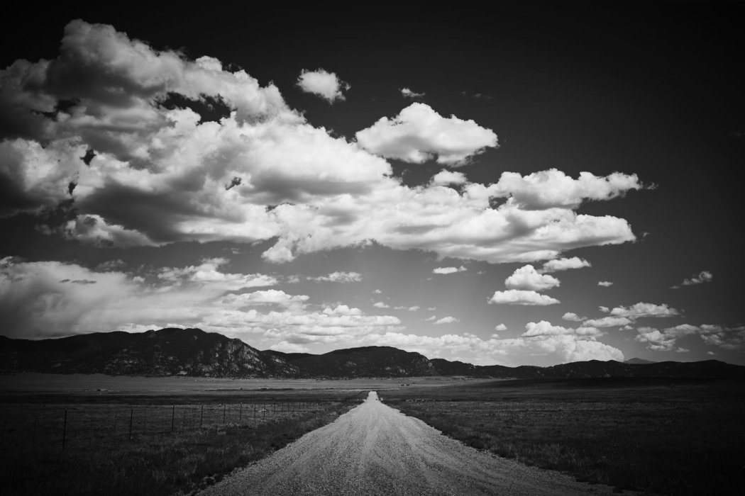 A dirt road in western united states