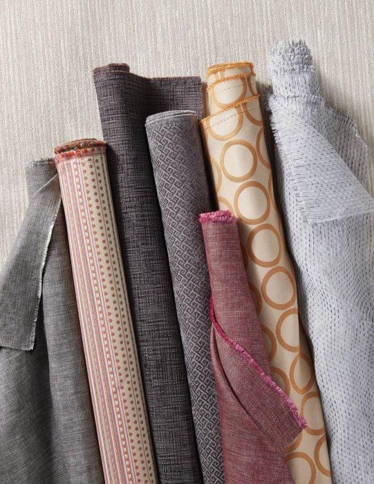 A set of textile options