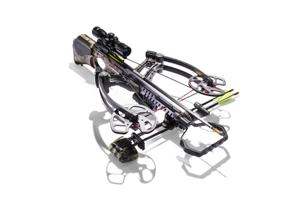 An angled full view image of a high powered cross bow