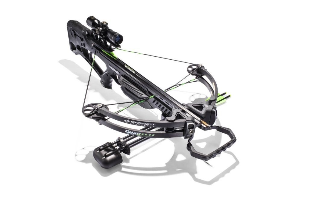 A precise product shot of a cross bow with excellent lighting
