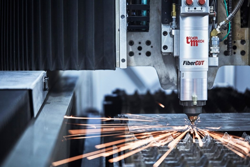 Laser Cutting CNC Machine - Industrial Photography