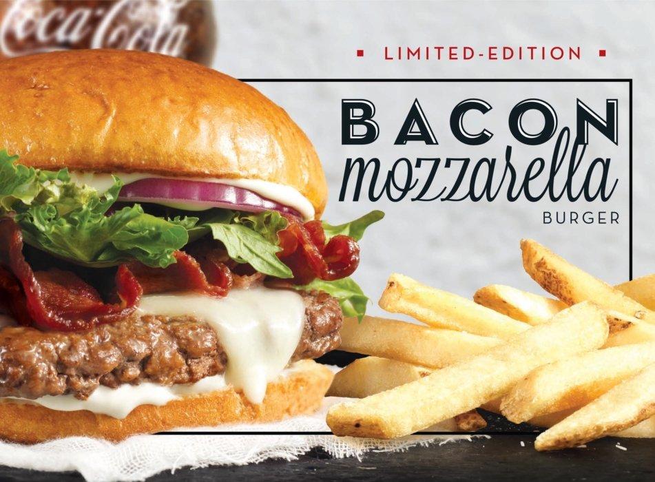 Bacon Mozzarella Burger - Food Photography