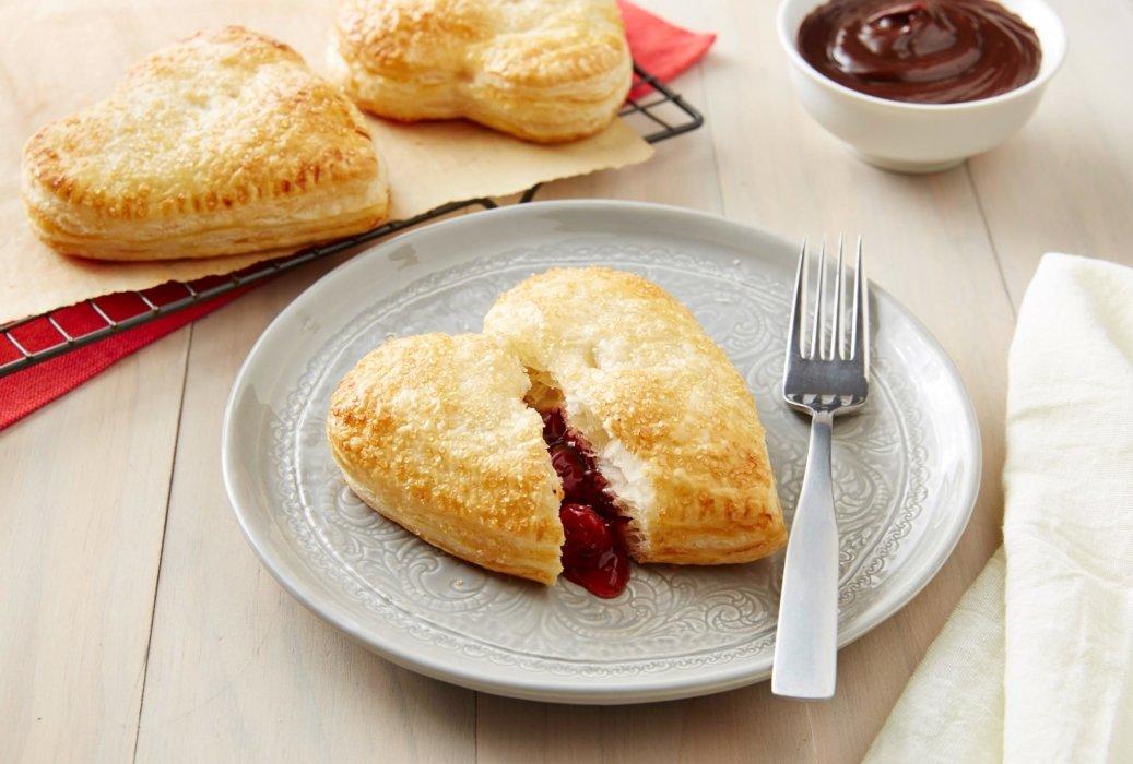 Heart shaped dessert pastry