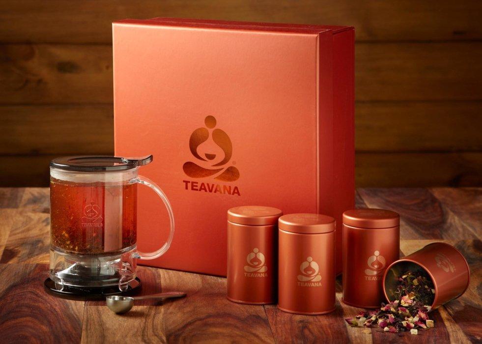 Tevana tea drinks display