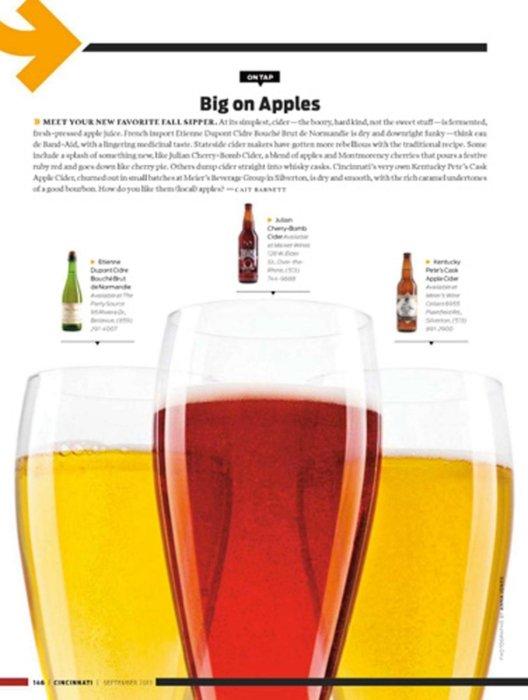 In layout beer in glasses