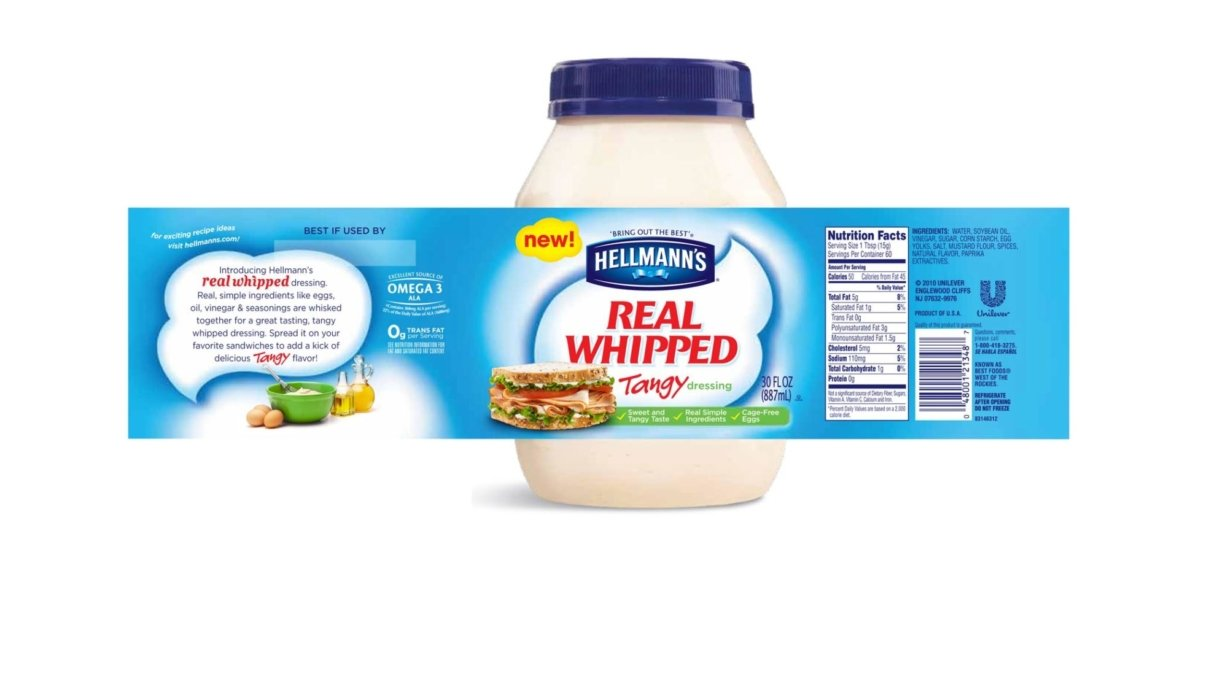 Shot sandwhich image on front label