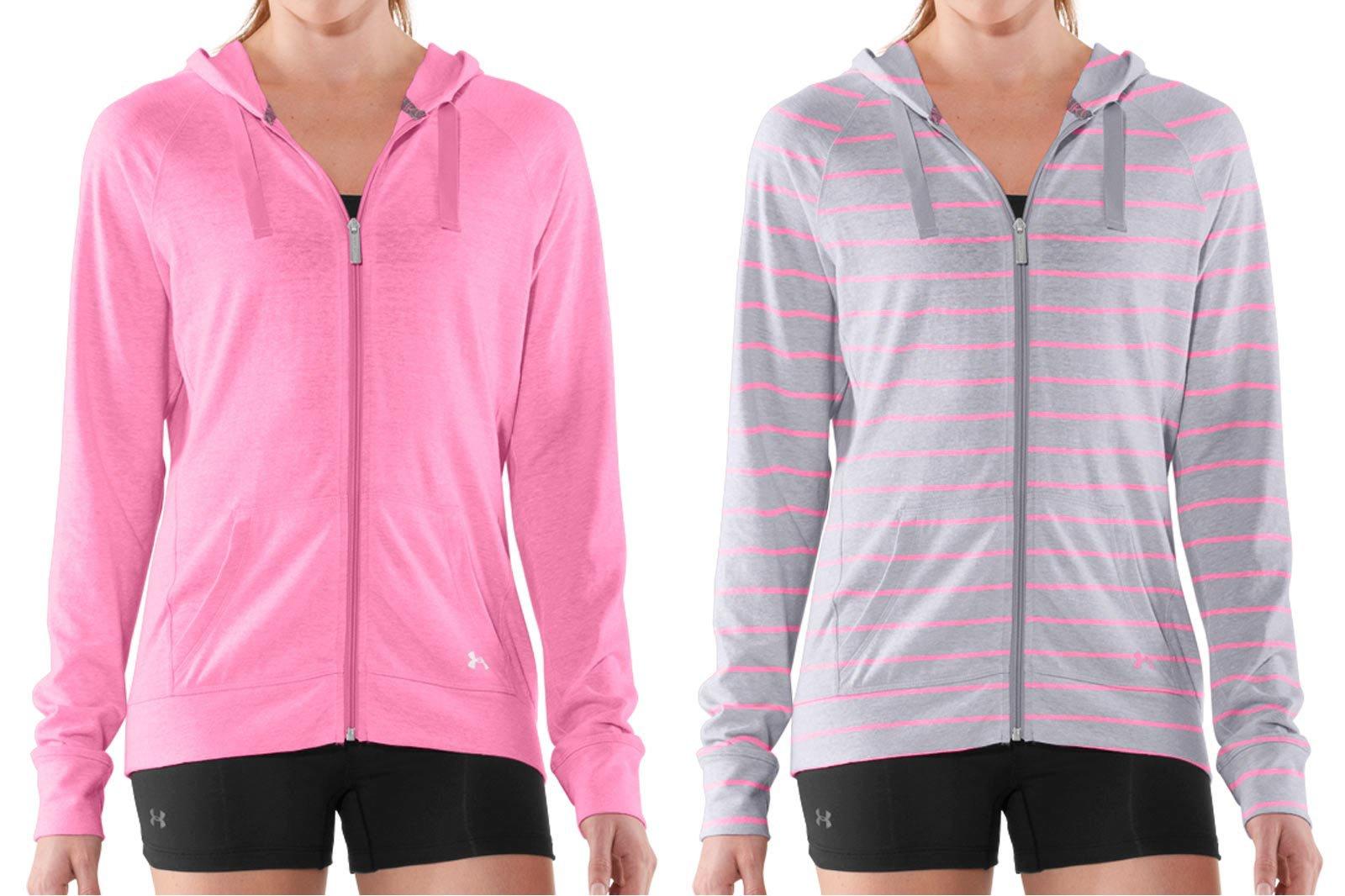 Colorways example - women wearing hoodies