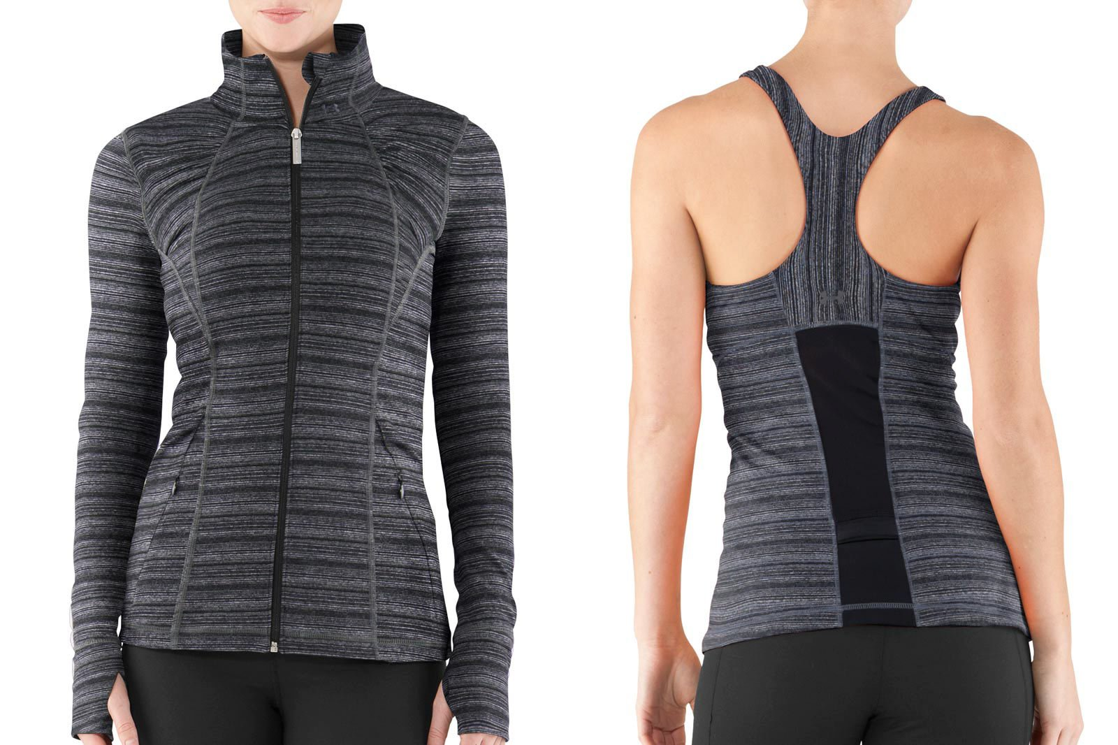 Colorways example - athletic wear for women black pattern