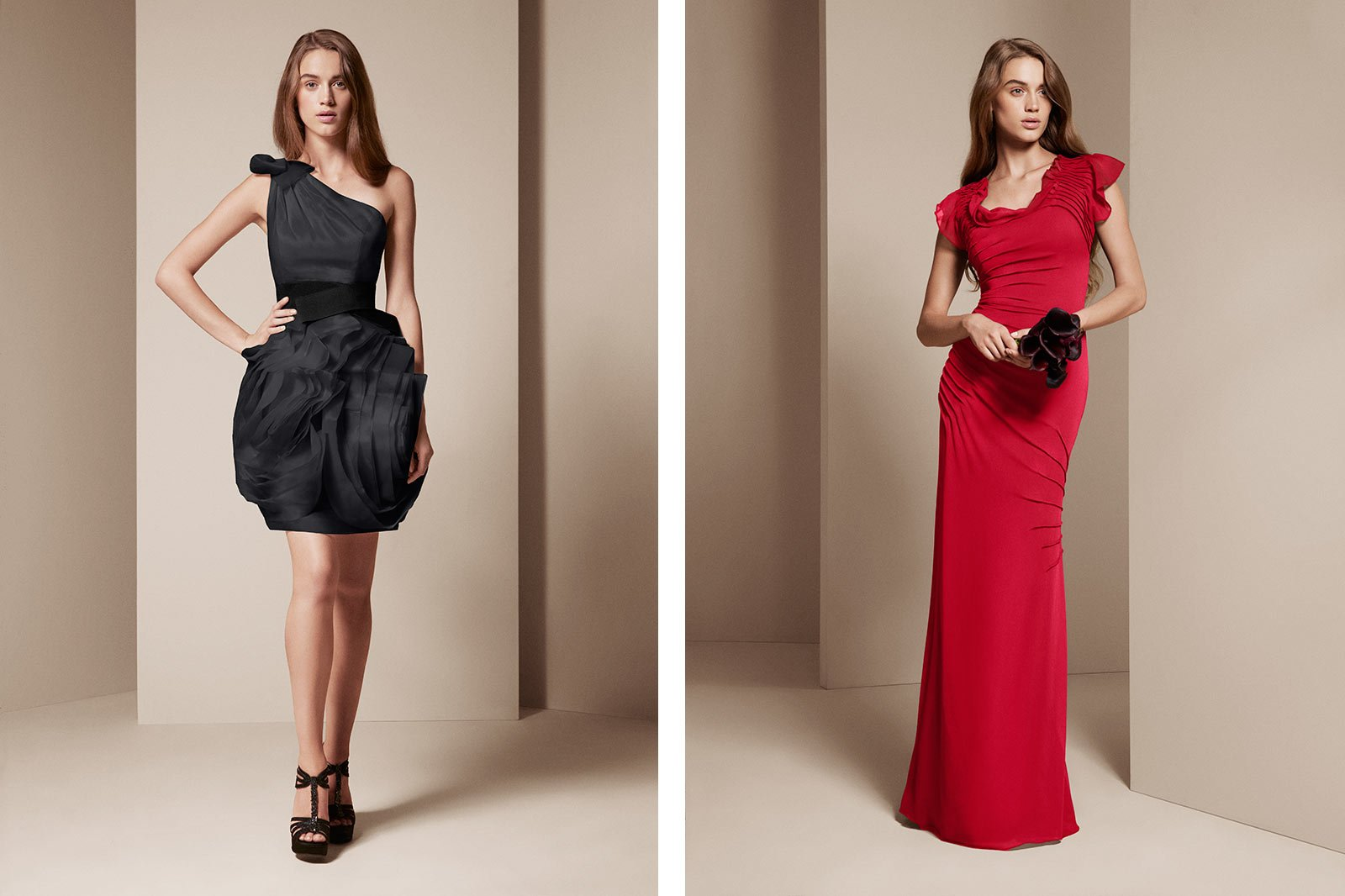 Colorways example - bridesmaid wearing bridesmaid with frills alternate