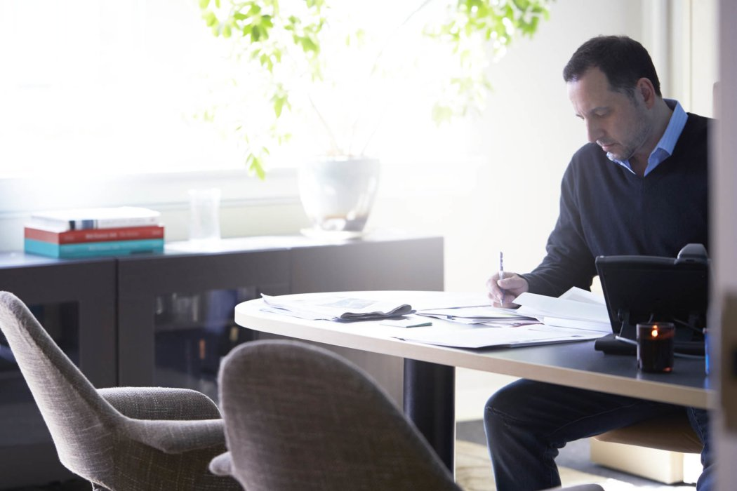 A man working in a corporate workspace - lifestyle photography