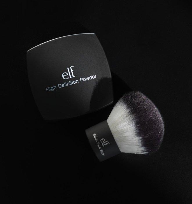 Elf cosmetics brush on black - Cosmetics photography