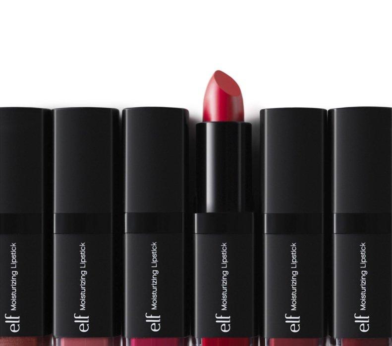 Lipstick cosmetics on white background - Cosmetics photography