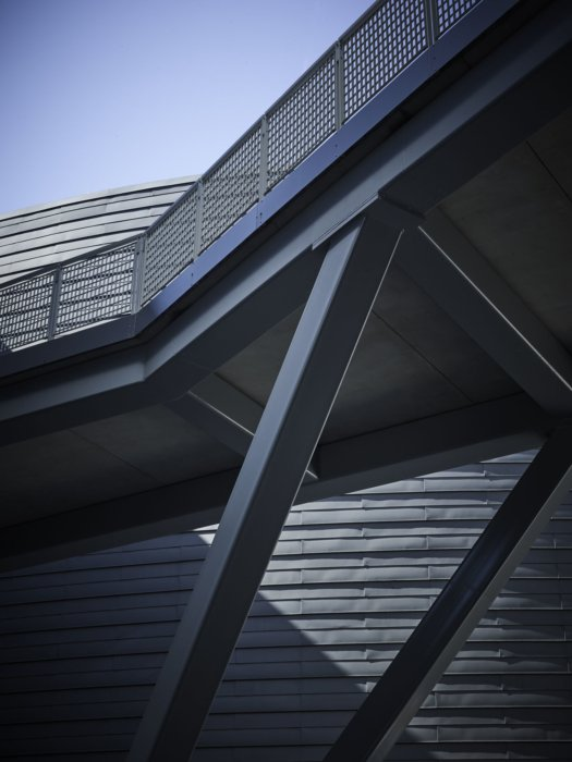 Architectural features of a iron walkway modern