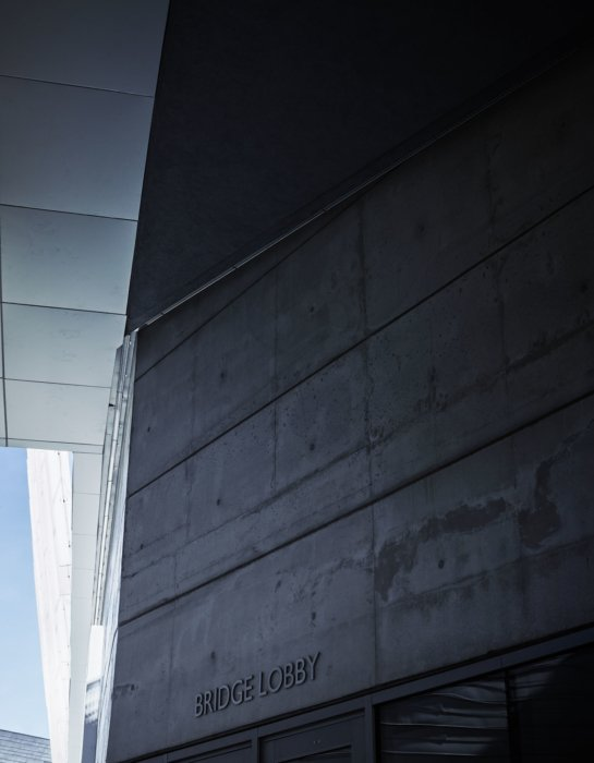 The exterior architectural features of a university campus