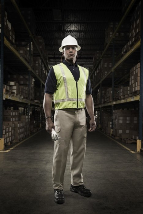 Industrial worker in a warehouse
