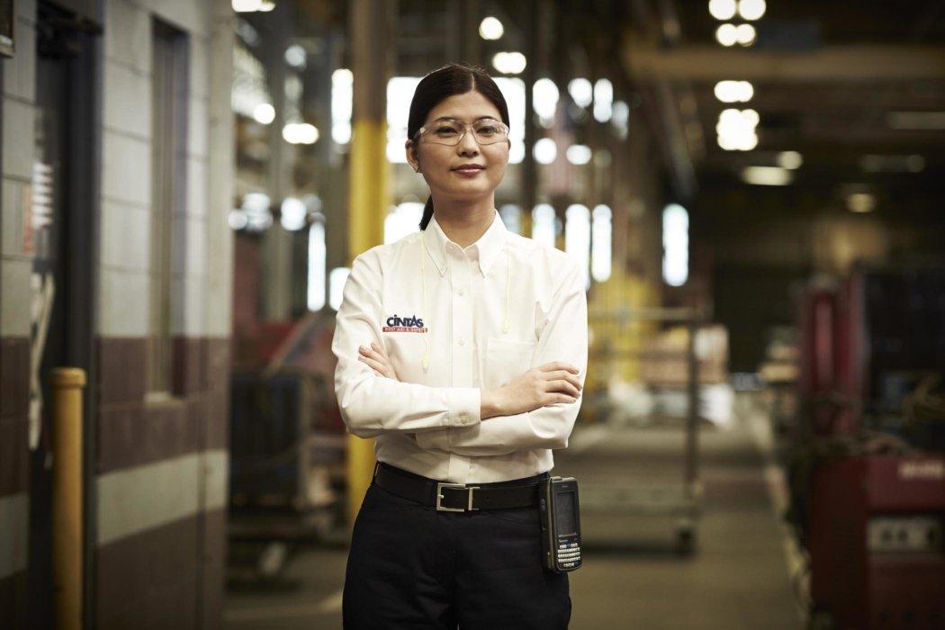 Industrial worker hero portrait