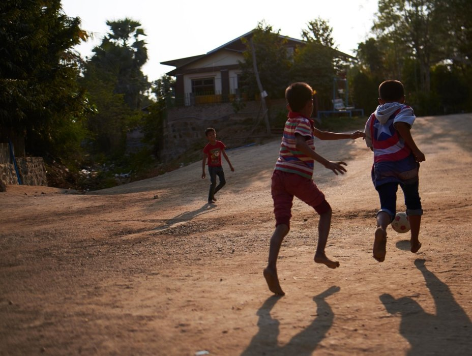 Travel photo of a kids playing