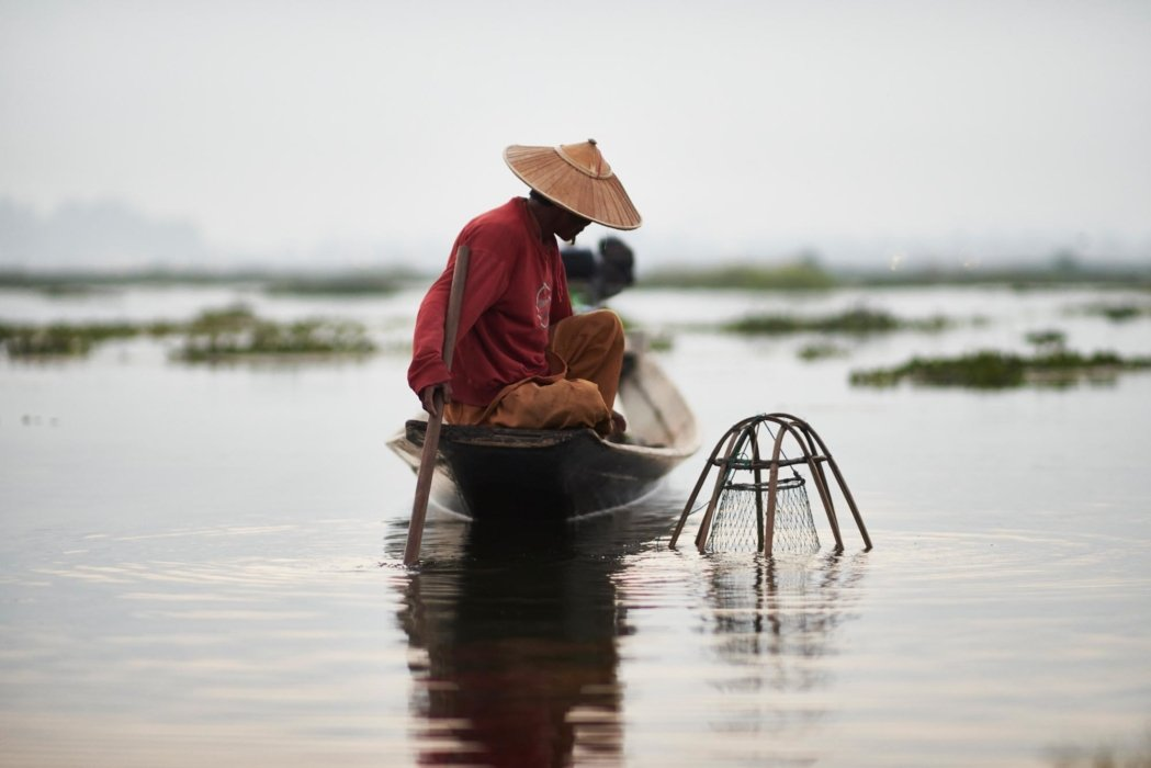 Travel photo of a fisherman