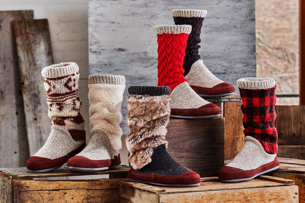 Many woman winter boots
