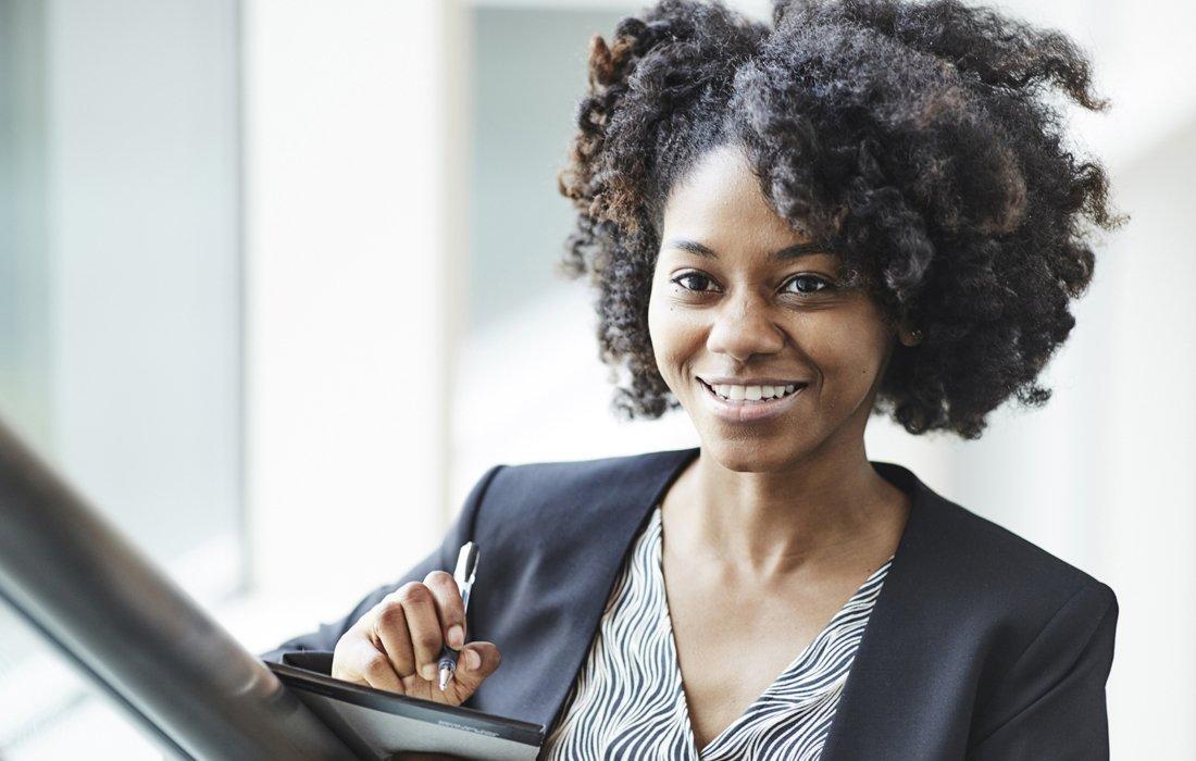 A corporate woman portrait