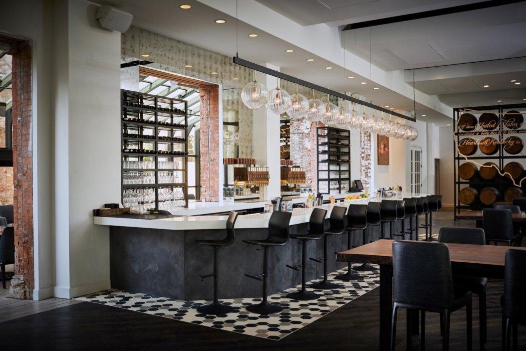 Interior image of a modern bar