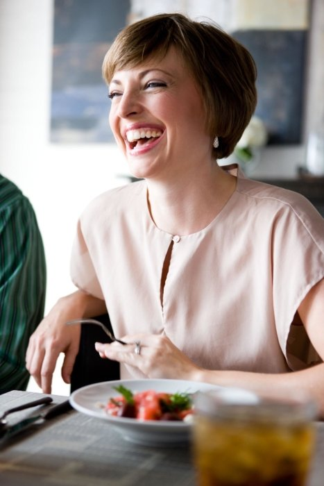Monty Milburn Lifestyle photo of woman at breakfast laughing