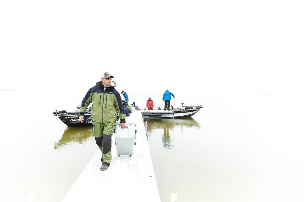 Fisher men docking with outdoor fishing products