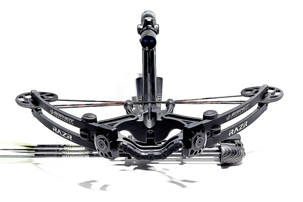 Straight forward scoped crossbow outdoor product