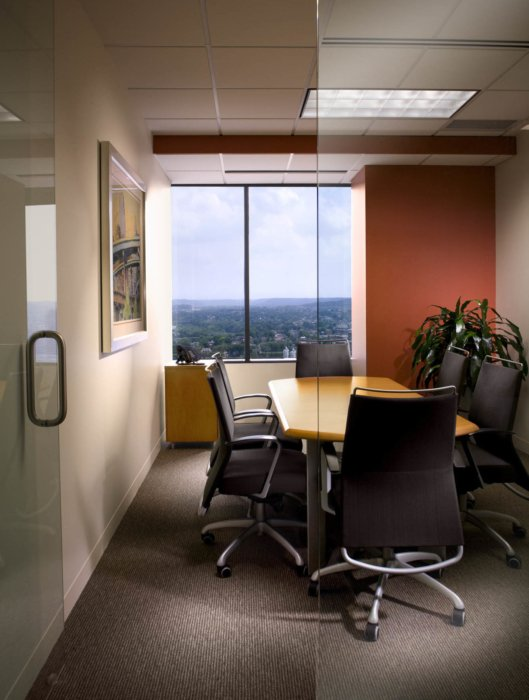 Interior architecture inside modern office building conference room