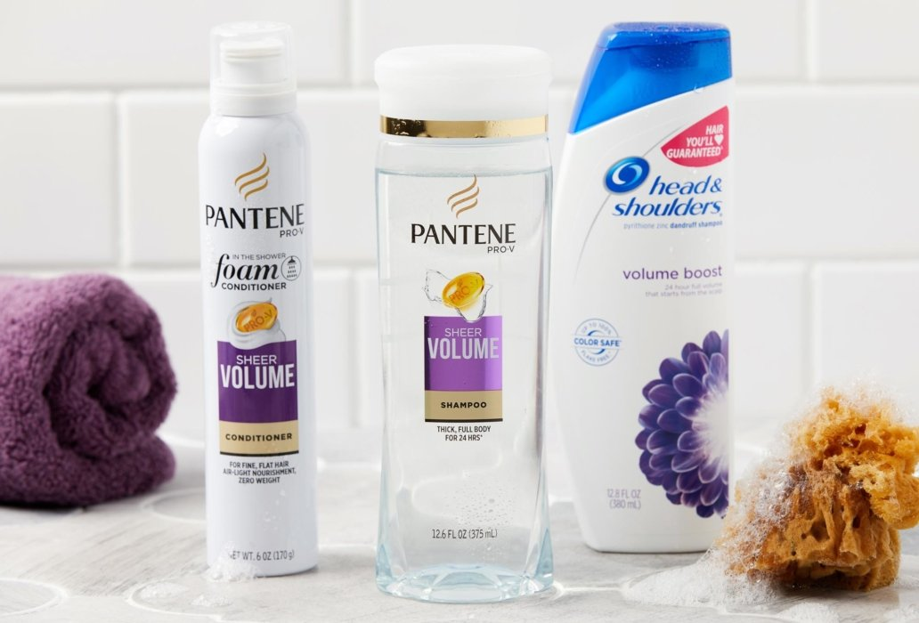 Pantene product in a bathroom