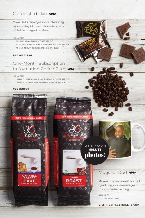 Coffee on pack with layout