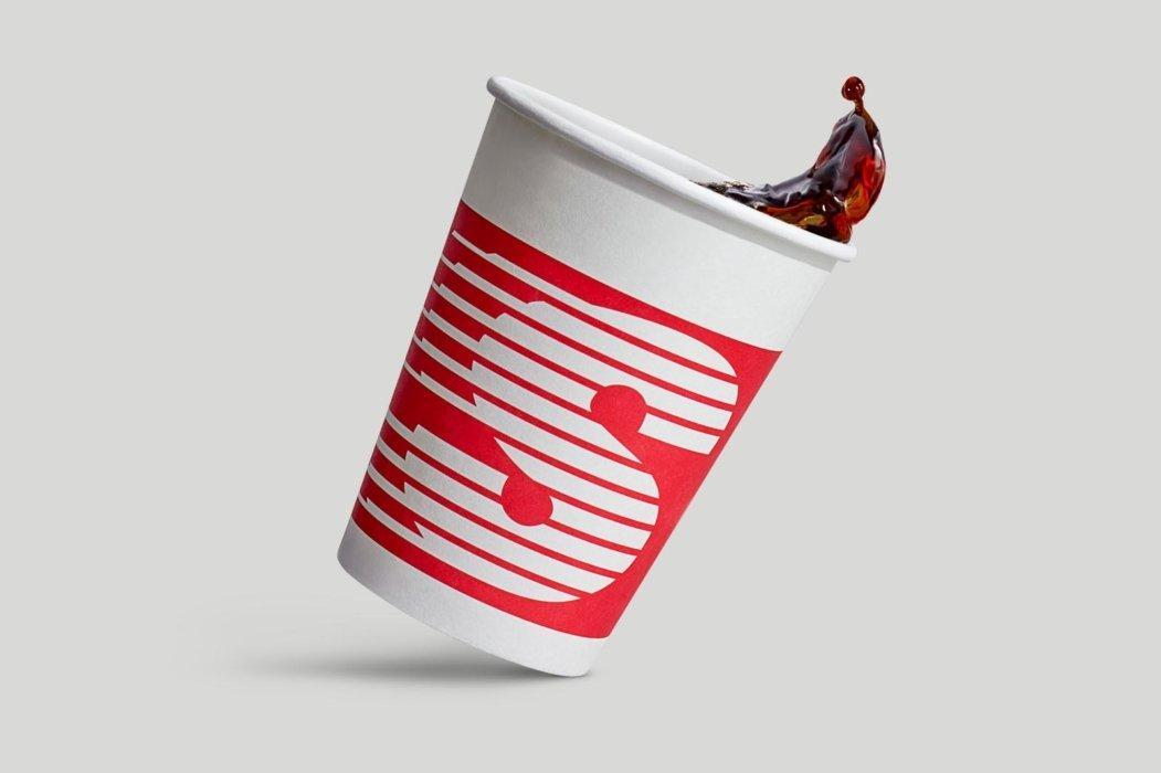 Splashing coffee cup after retouching