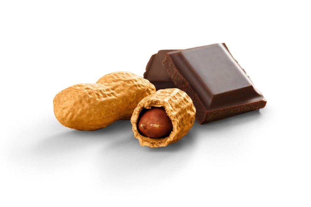 Chocolate and peanuts