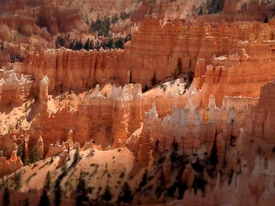 Grand canyon orange close up