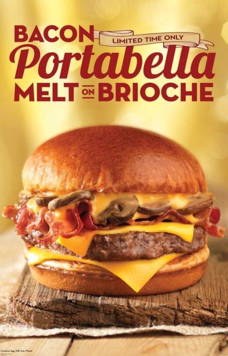 Bacon portabella melt advertising